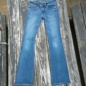 AE Super Stretch Kickboot Jeans Size 00